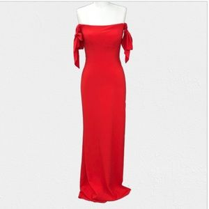 Faviana Red 10075 Off Shoulder Prom Dress Size 0